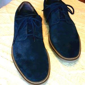 Clark's Blue Suede Shoes - mens size 9 1/2